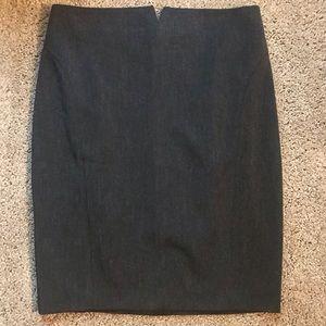 Express Pencil Skirt Charcoal Grey Size 10